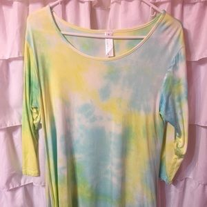 Tops - Tie dyed swing top